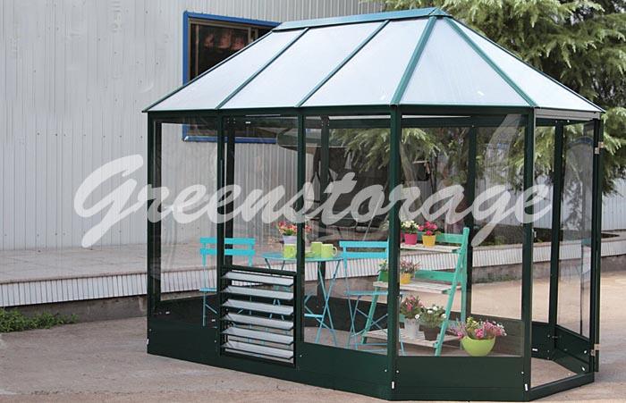 Беседка, павильон Greenstorage из алюминия и поликарбоната Джина